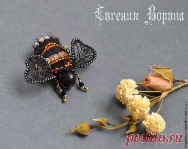 Miniature Bee Brooch DIY - Livemaster - original item, handmade