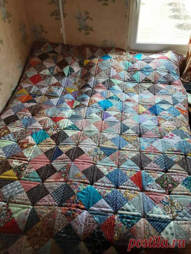 #дома не скучно. Дачное одеяло из старых лоскутков или История о том, как извлечь пользу из самоизоляции | Я люблю пэчворк | Яндекс Дзен