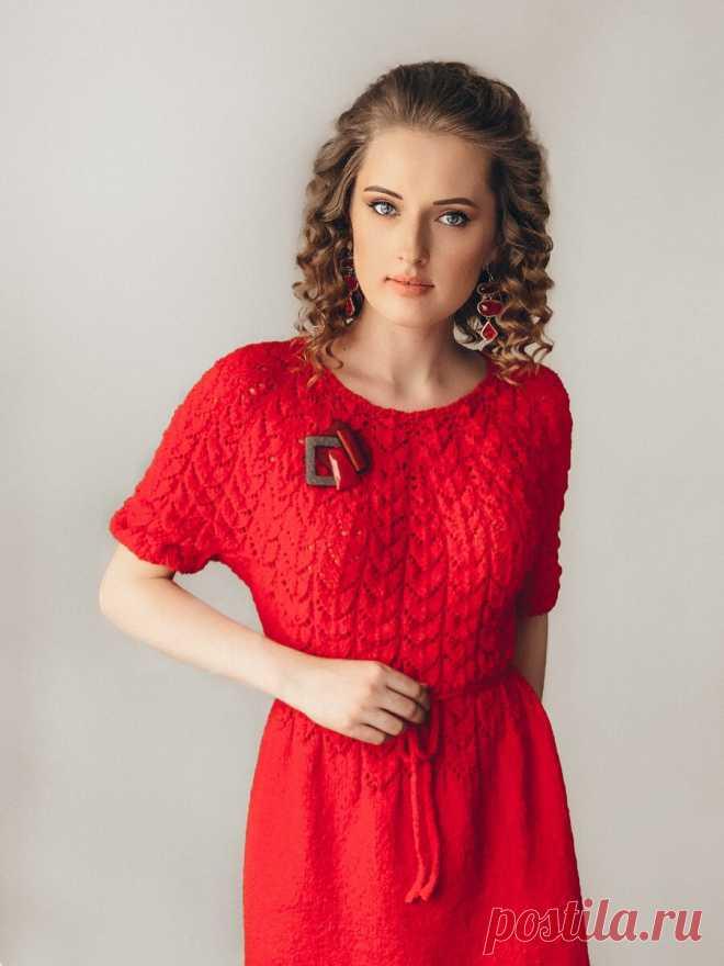 Маленькое красное платье для смелых леди. Описание вязания | Like Babulya | Яндекс Дзен