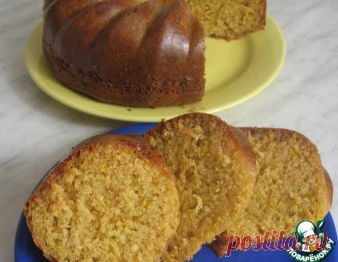 Блестящий лимонно-творожный кекс – кулинарный рецепт