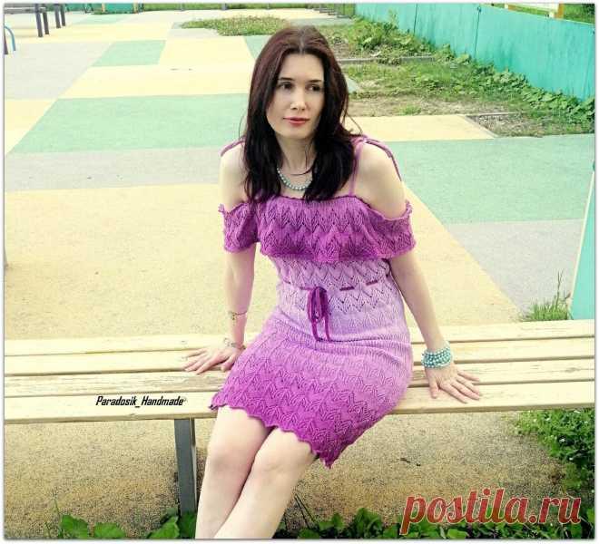 Связала классное платье и выиграла спор. Делюсь результатом и подробным описанием   Paradosik_Handmade   Яндекс Дзен