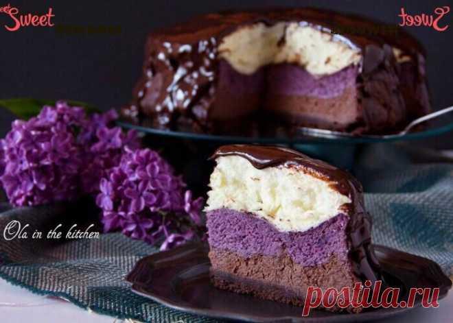 Чизкейк шоколадно-ягодный с воздушным безе   Sweet Twittes