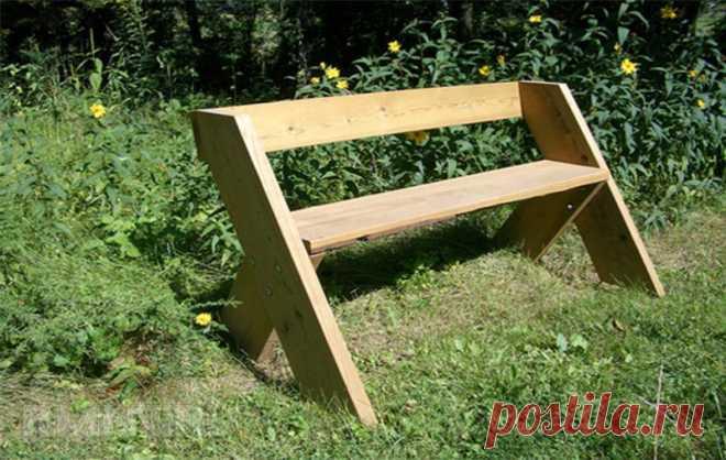 Угловая скамья для дачи своими руками. Фото садовых скамеек своими руками: как сделать из подручных материалов