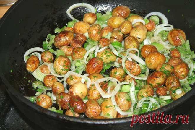 Девочки, теперь это мое любимое блюдо Готовлю за 15 минут, это гениально! Вкусная мелкая молодая картошка!