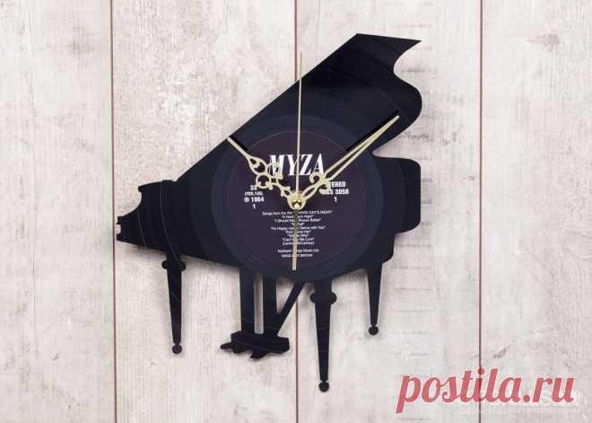 Часы из виниловой пластинки «Рояль» купить подарок в ArtSkills: фото, цена, отзывы