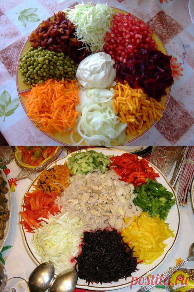 """Салат """"Козел в огороде"""" (2 рецепта, плюс вариации)."""