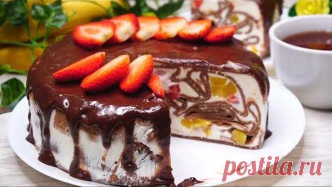 БЕЗ ДУХОВКИ. Обалденный Торт Шоколадный! Шикарный и делается просто!