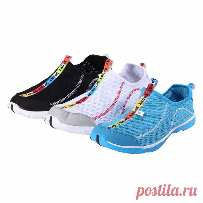 Tengoo unisex water beach shoes quick drying surf swimming shoes walking hiking mesh casual loafers Sale - Banggood.com