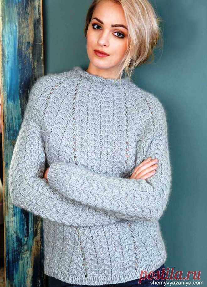 Пуловер узором из кос от Vibe Ulrik.