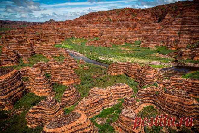 Западная Австралия:Красивый хребет Бангл -Бангл в национальном парке!