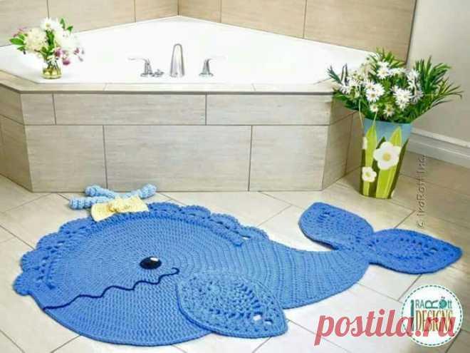 коврик для ванной комнаты кит крючком схемы обсуждение на