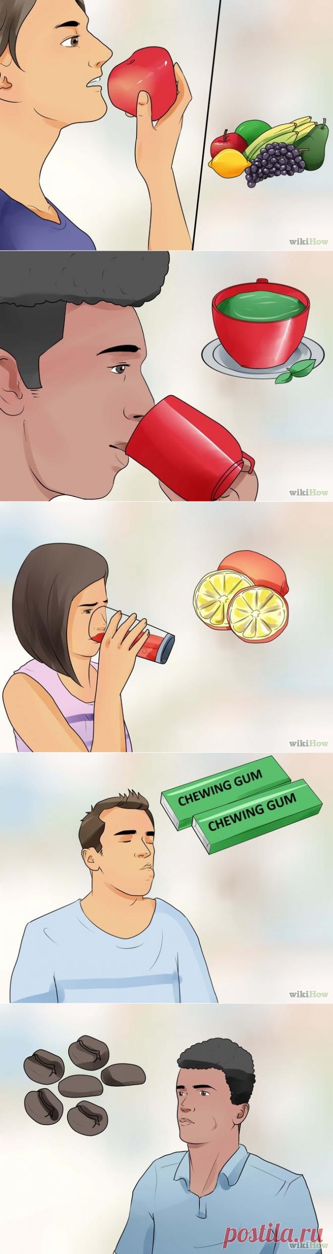 Как изо рта убрать запах чеснока изо рта быстро в домашних условиях
