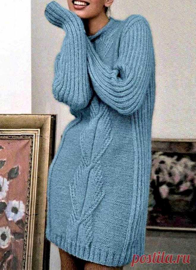 Женское платье с центральным узором