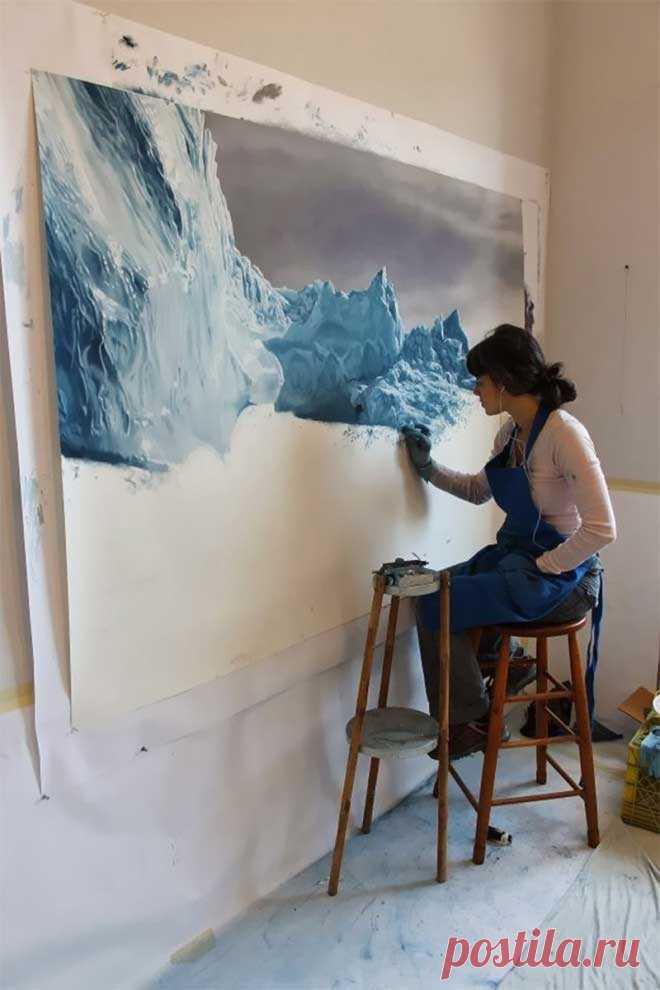 Невероятно реалистичные айсберги от Zaria Forman
