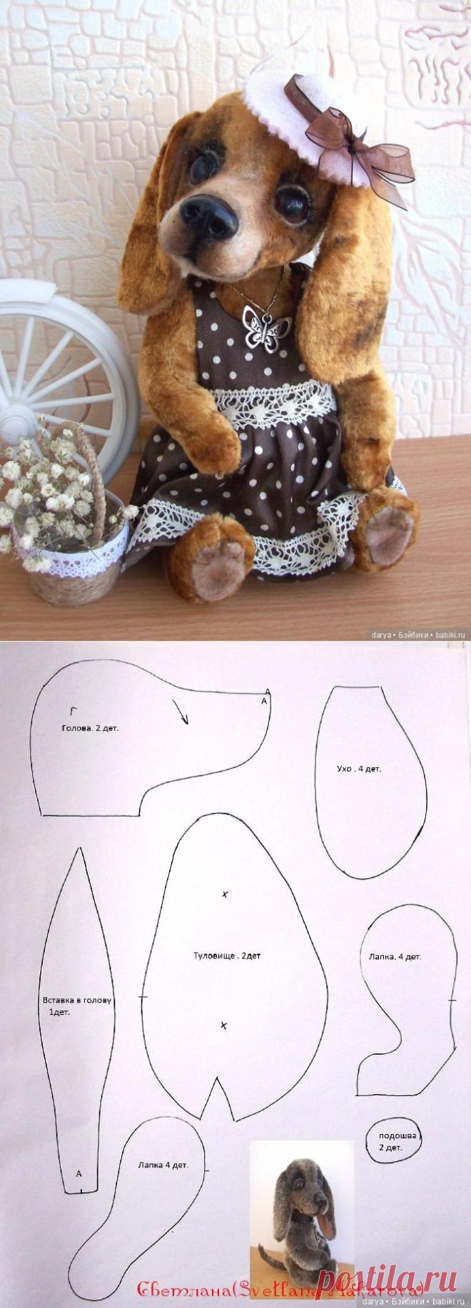 Выкройка игрушки таксы от Светланы Макаровой / Собака / Бэйбики. Куклы фото. Одежда для кукол