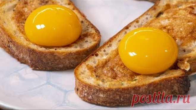 Теперь делать яичницу на завтрак вы будете делать, только так. Бутерброды из яиц.