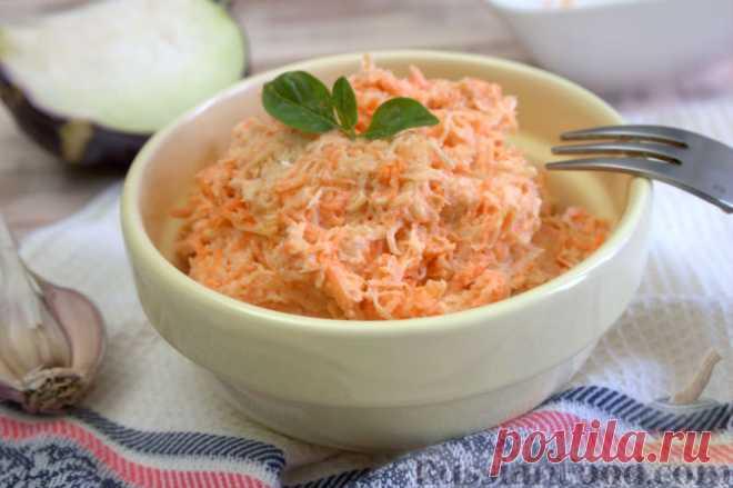 La receta: la Ensalada con el apio, la zanahoria y el yogurt en RussianFood.com