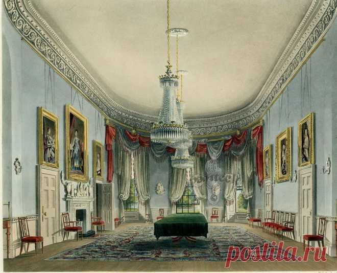 Акварельные интерьеры Виндзорского замка, Хэмптон-корт и Кесингтонcкого дворца .
