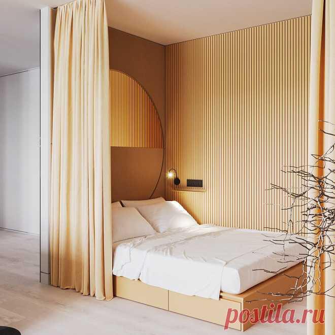 Спальня в нише: 5 дизайнерских решений
