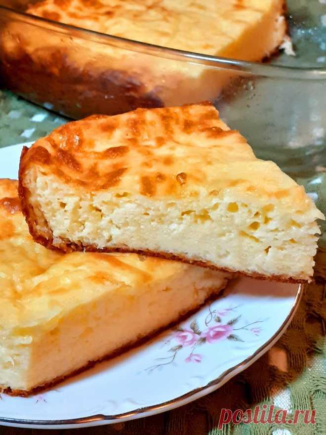 Как из обычного сыра я готовлю воздушную запеканку-суфле: 4 простых ингредиента и 5 минут времени+духовка.