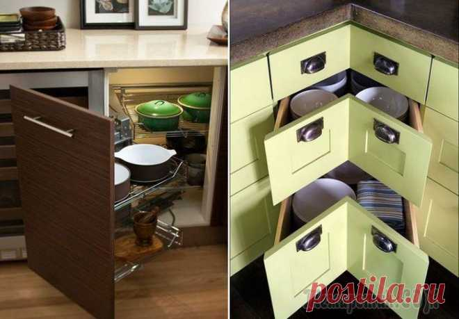 Организовываем пространство на маленькой кухне Как разместить всё необходимое на маленькой кухне, и правильно организовать пространство? Помогут в решении этих непростых задач самые обычные углы. Если грамотно задействовать даже небольшой угол, то...