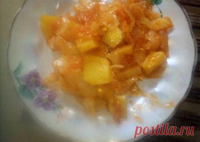 (30) Тушеная капуста с картошкой - пошаговый рецепт с фото. Автор рецепта Людмила Зайцева🏃♂️ . - Cookpad