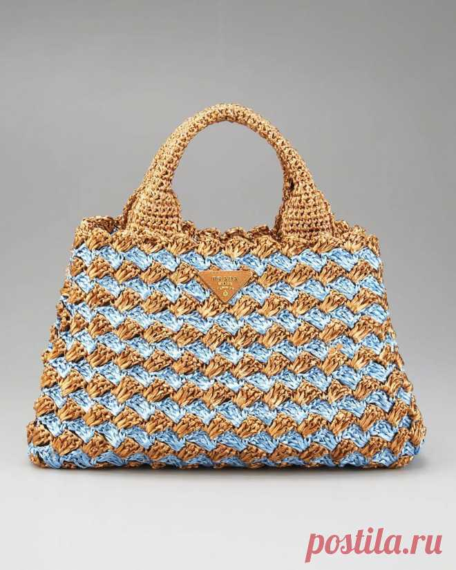 8ac686a674f5 Вязаная крючком сумка от Prada+СХЕМЫ. Связать стильную сумку крючком схема  | Домоводство для