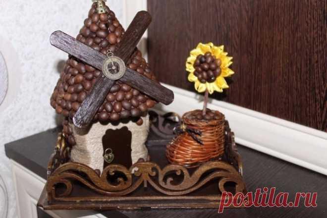 Шкатулочка-мельница с кофейными зернами своими руками