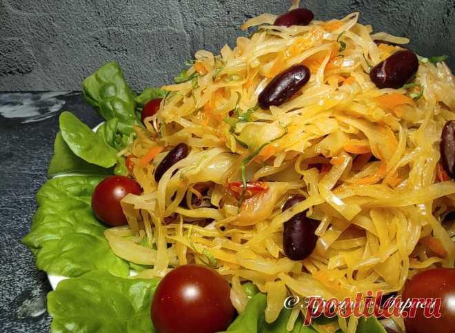 Как я готовлю капусту «по-ленивому» в пакете (получается вкусное и нежирное блюдо) | Просто с Марией | Яндекс Дзен