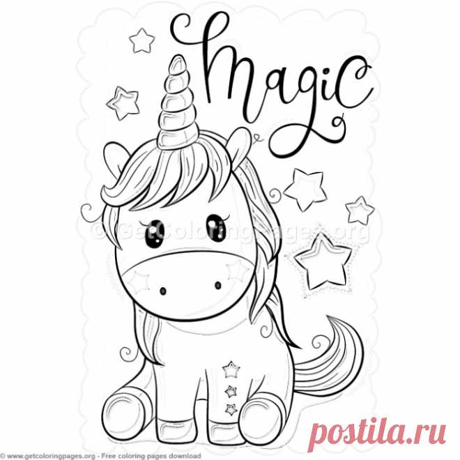 27 Cute Cartoon Unicorn Coloring Pages Getcoloringpages Org Diy