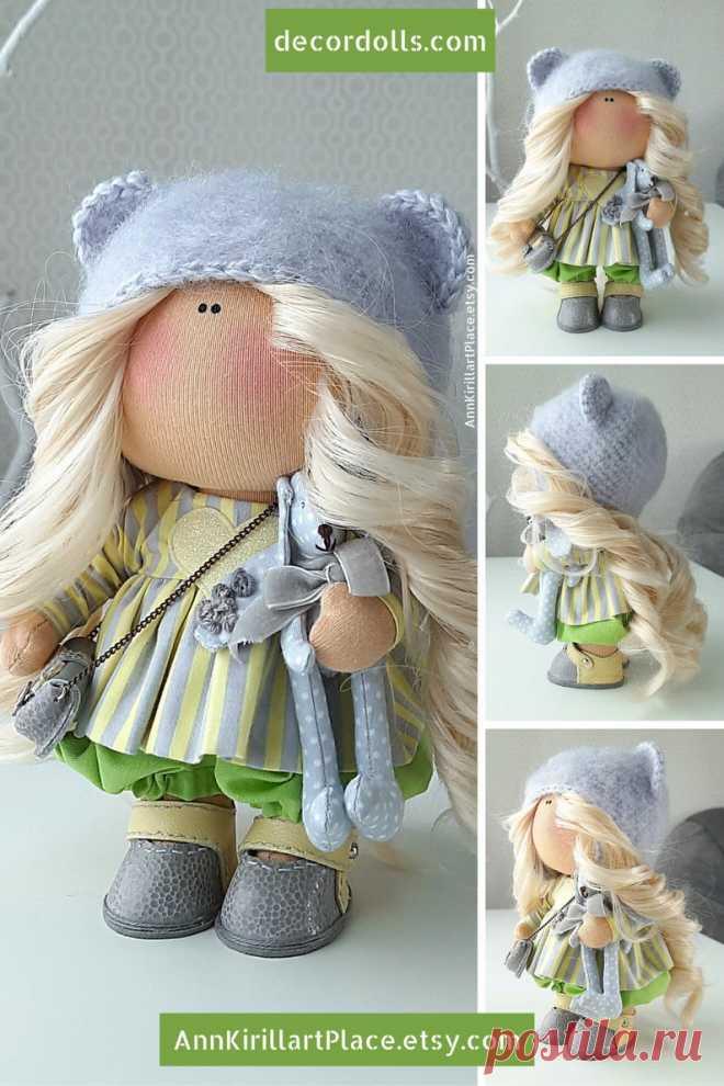 Love Gift Doll Baby Doll Handmade Interior Art Doll Fabric | Etsy