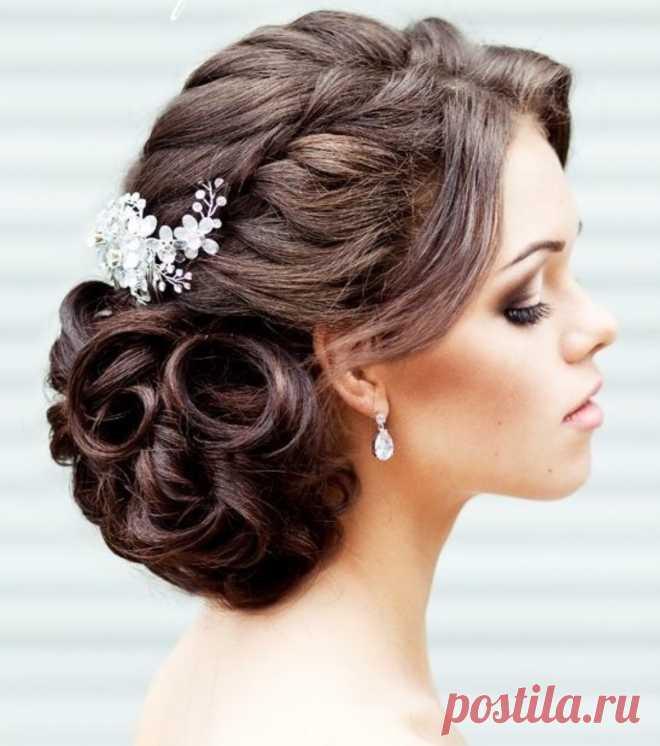 Свадебные прически на средние волосы: 50 новых вариантов | ЯвМоде