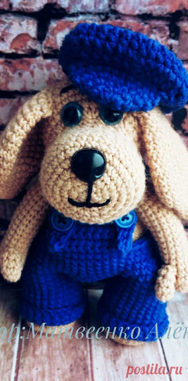 PDF Пёсик крючком. FREE crochet pattern; Аmigurumi doll patterns. Амигуруми схемы и описания на русском. Вязаные игрушки и поделки своими руками  #amimore - Собака, пёс, собачка, щенок, пёсик.
