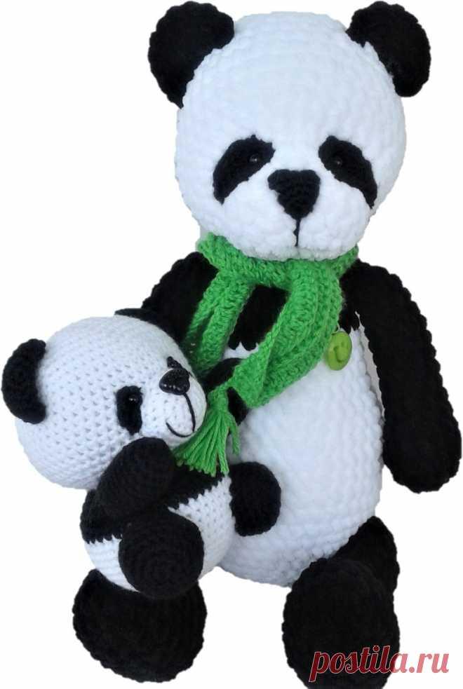 Weiche Plüsch Mutter Panda mit Kindern gestrickte Spielzeug | Etsy