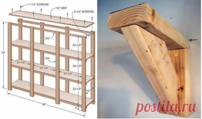 Как сделать полки в сарае своими руками: пошаговая инструкция