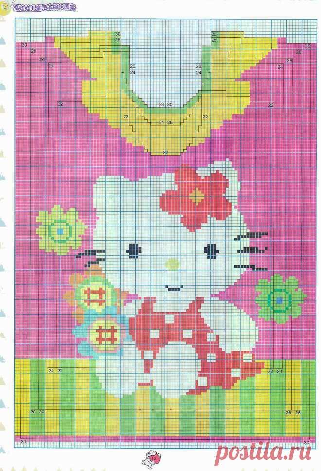 Орнамент девочка для вязания