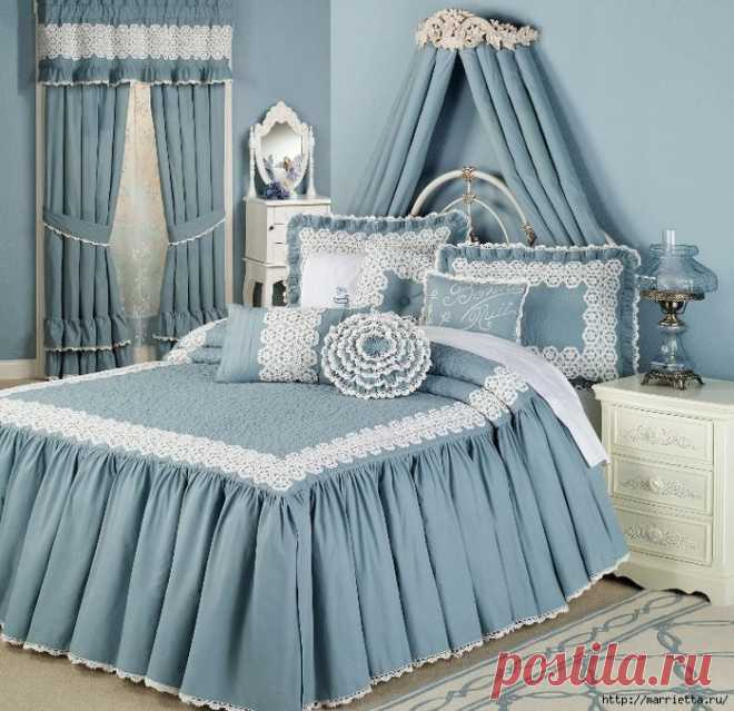 Текстиль в спальне. Шикарные идеи | Подружки