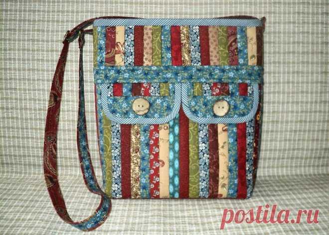 Замечательные лоскутные торбы от Снежаны Хохловой.