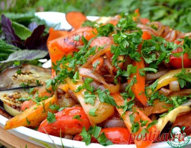 Теплый салат к шашлыку – кулинарный рецепт