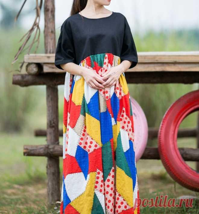 Black High waist Dress bat Sleeves Women's Dress boho | Etsy