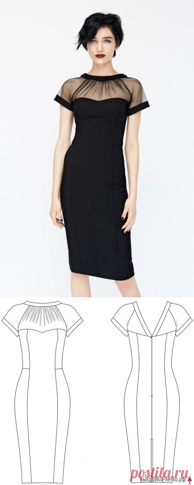 7aad407b32a Готовая выкройка маленького черного платья