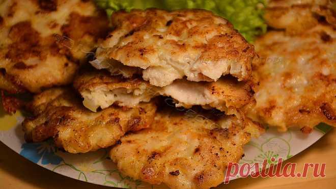 Рецепт 7, пошаговый: котлеты рубленые из куриной грудки.